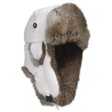 Mad Bomber® Supplex Aviator Hat (For Kids) in White W/Brown Fur - Closeouts