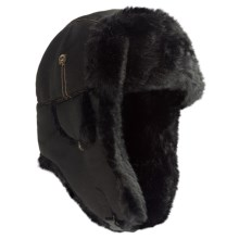Mad Bomber® Supplex® Nylon Aviator Hat - Faux Fur, Insulated (For Men and Women) in Black W/Black Fur - Closeouts