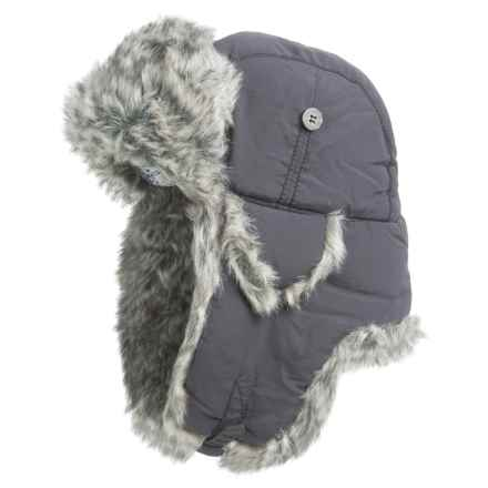 Mad Bomber® Supplex® Nylon Aviator Hat - Faux Fur, Insulated (For Men and Women) in Grey W/ Grey Faux Fur - Closeouts