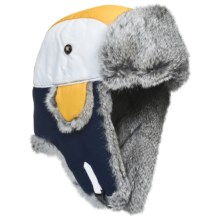 Mad Bomber® Team Color Block Aviator Hat - Rabbit Fur, Insulated (For Men and Women) in Navy/Yellow/White W/Grey Fur - Closeouts