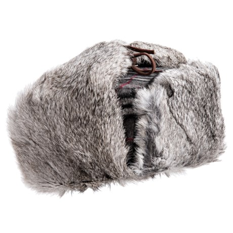 Mad Bomber® Trooper Aviator Hat - Wool (For Men and Women) in Grey/White W/Grey Fur