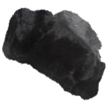 Mad Bomber® Trooper Hat - Rabbit Fur, Insulated (For Men and Women) in Black - Closeouts