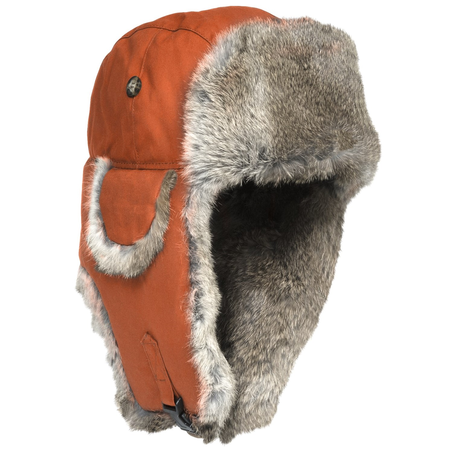 mad bomber 174 waxed cotton aviator hat rabbit fur for
