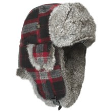 Mad Bomber® Wool Aviator Hat - Rabbit Fur, Insulated (For Men and Women) in Multi W/Grey Fur - Closeouts