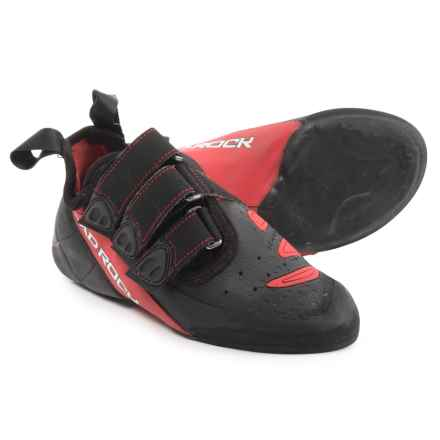 Mad Rock Concept Climbing Shoes - Suede (For Big Kids) in Red/Black - Closeouts