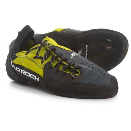Mad Rock Hooker-Lace Climbing Shoes (For Big Kids) in Yellow/Black - Closeouts