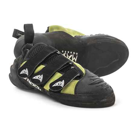 Mad Rock Hooker Strap Climbing Shoes (For Big Kids) in Yellow/Black - Closeouts