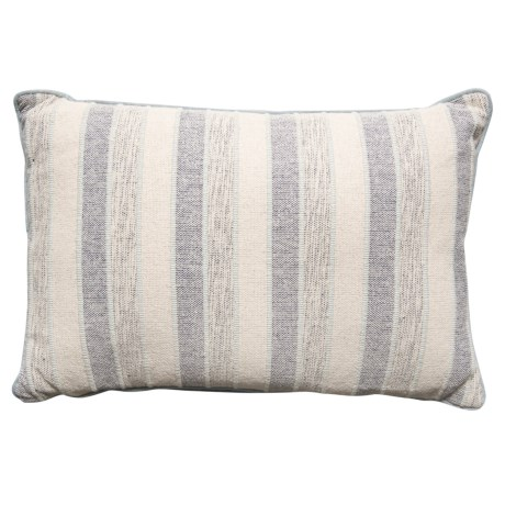 "Made in India Multi-Rib Striped Throw Pillow - 16x24"" in Grey"