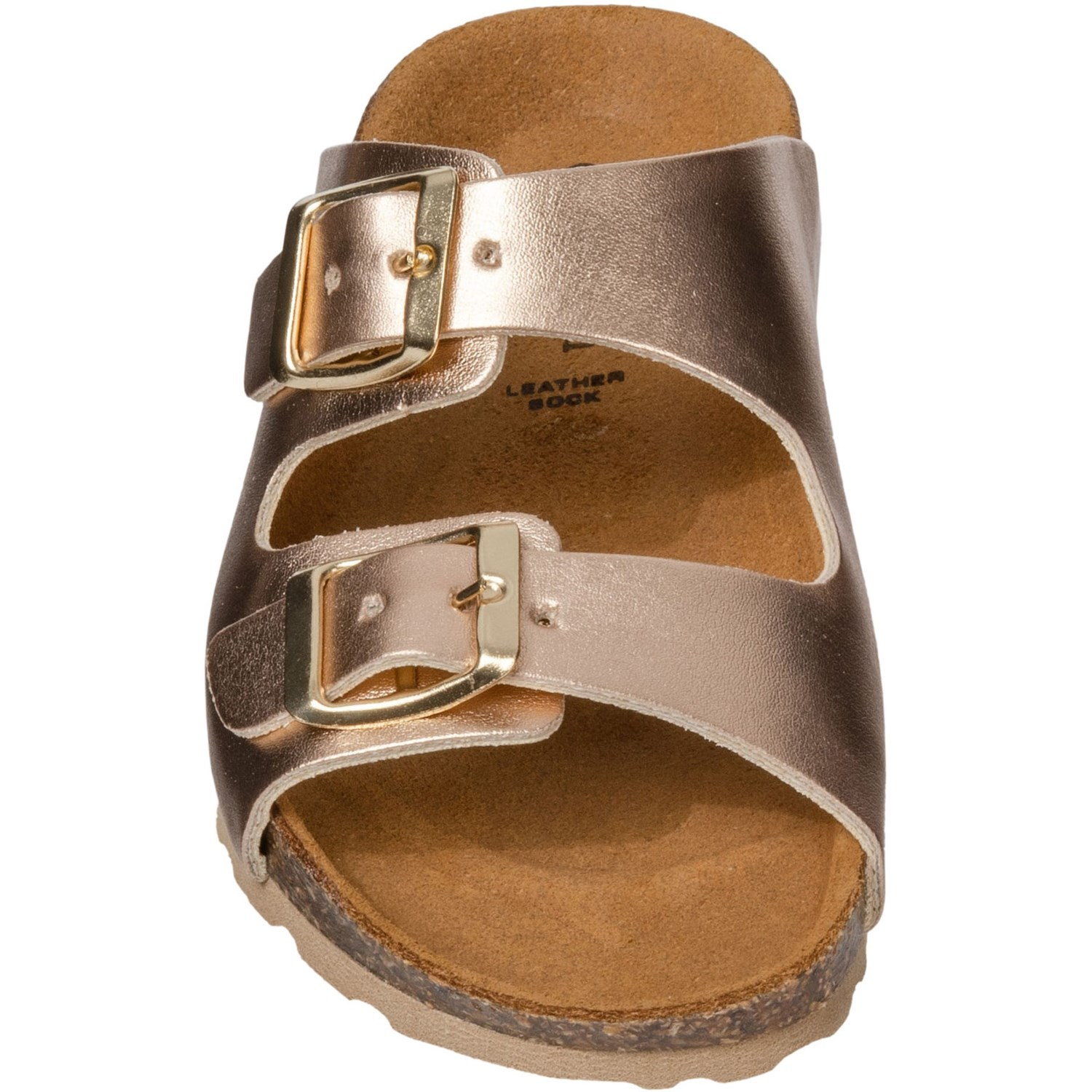 6d1c8a829c0 Made in Italy Rose Gold Double Buckle Sandals (For Girls) - Save 28%