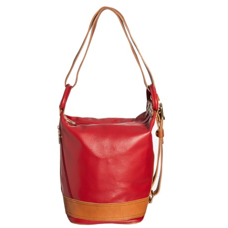 Made in Italy Sling Convertible Backpack - Leather (For Women)