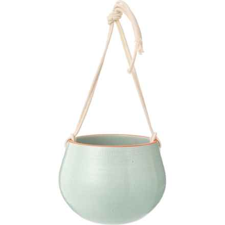 """Made in Portugal Textured Mint Hanging Pot - 8"""" in Mint - Closeouts"""