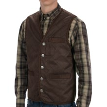 Madison Creek Outfitters Frontier Quilted Travel Vest - Cotton Twill (For Men) in Dark Brown - Closeouts