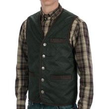 Madison Creek Outfitters Frontier Quilted Travel Vest - Cotton Twill (For Men) in Hunter Green - Closeouts