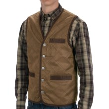 Madison Creek Outfitters Frontier Quilted Travel Vest - Cotton Twill (For Men) in Tan - Closeouts