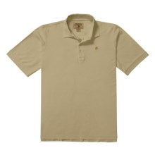 Madison Creek Outfitters Herringbone Polo Shirt - Cotton, Short Sleeve (For Men) in Camel - Closeouts