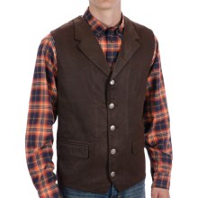Madison Creek Outfitters Lapel Travel Vest - Cotton Twill (For Men) in Dark Brown - Closeouts