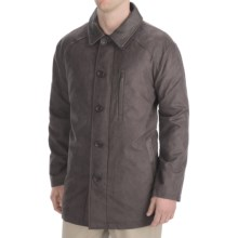 Madison Creek Outfitters Microsuede Barn Coat - Quilted Lining (For Men) in Chocolate - Closeouts