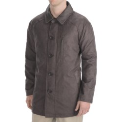 Madison Creek Outfitters Microsuede Barn Coat - Quilted Lining (For Men) in Chocolate