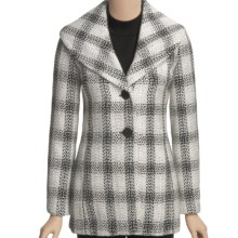 Madison Hill Boucle Plaid Jacket (For Women) in Black/Cream - Closeouts