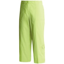 Madison Hill Cotton Crop Pants - Stretch Canvas (For Women) in Key Lime - Closeouts