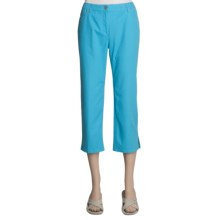 Madison Hill Cotton-TENCEL® Crop Pants - 5 Pocket (For Women) in Aqua - Closeouts