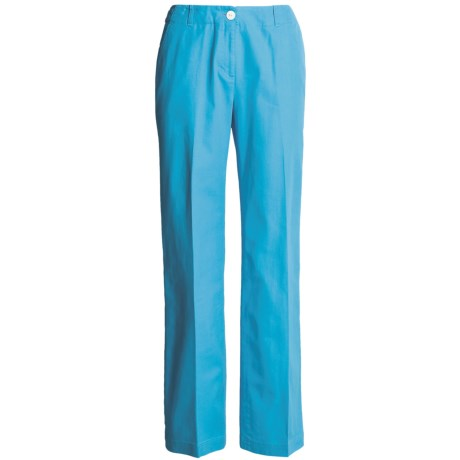 Madison Hill Cotton-TENCEL® Pants (For Women) in Aqua