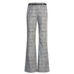 Madison Hill Dobby Glen Pants - Cotton-Linen (For Women) in Black/Soft White