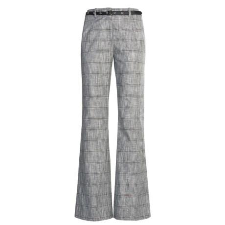 Madison Hill Dobby Glen Pants - Cotton-Linen (For Women) in Black/Soft White