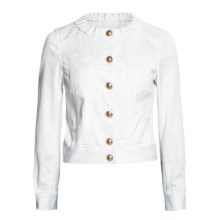 Madison Hill Dress Denim Jacket (For Women) in White - Closeouts