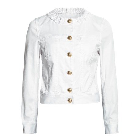 Madison Hill Dress Denim Jacket (For Women) in White