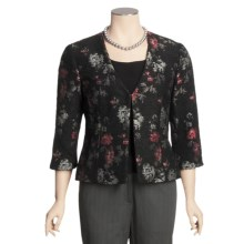 Madison Hill Floral Boucle Jacket - 3/4 Sleeve (For Women) in Multi - Closeouts