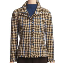 Madison Hill Houndstooth Jacket - Snap Front (For Women) in Multi - Closeouts