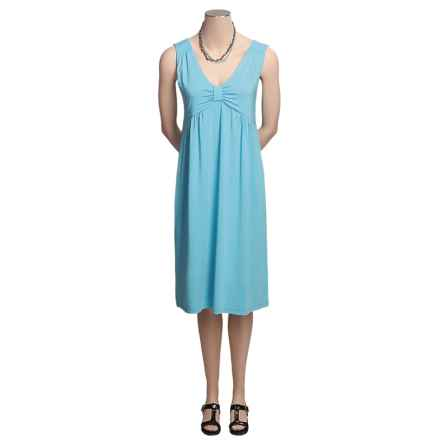 Madison Hill Luxe Knit Dress - V-Neck, Sleeveless (For Women) in Turquoise - Closeouts