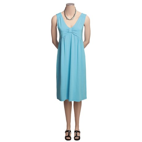 Madison Hill Luxe Knit Dress - V-Neck, Sleeveless (For Women) in Turquoise