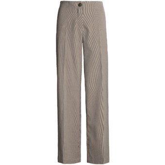 Madison Hill Mini-Houndstooth Pants - Flat Front (For Women) in Multi