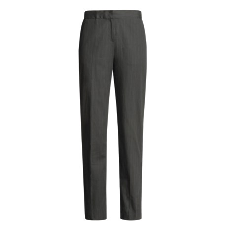Madison Hill Pinstripe Pants - Stretch Cotton (For Women) in Pewter