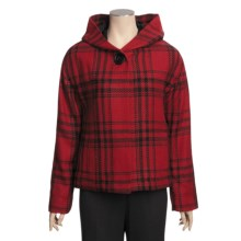 Madison Hill Plaid Jacket - Hooded (For Women) in Berry Red - Closeouts