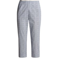 Madison Hill Printed Crop Pants (For Women) in Multi - Closeouts
