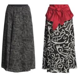 Madison Hill Reversible Crepe Skirt (For Women) in Black/Cream