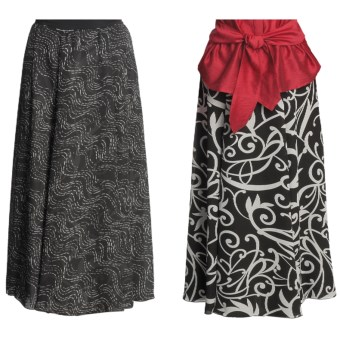 Madison Hill Reversible Crepe Skirt (For Women) in Black/Cream