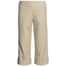 Madison Hill Textured Crop Pants - TENCEL®-Cotton, Roll Leg (For Women) in Stone - Closeouts
