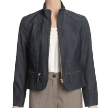 Madison Hill Textured Denim Jacket (For Women) in Dark Indigo - Closeouts