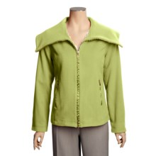 Madison Hill Ultrasoft Wool Jacket - Zip Front (For Women) in Grass - Closeouts