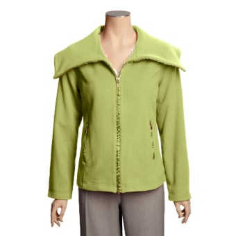 Madison Hill Ultrasoft Wool Jacket - Zip Front (For Women) in Grass