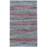 Madison Home Antique Red Stripe Chindi Accent Rug - 3x5'