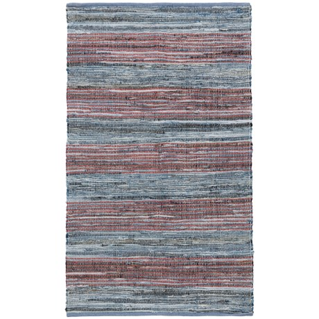 Madison Home Antique Red Stripe Chindi Accent Rug - 3x5' in Antique Red