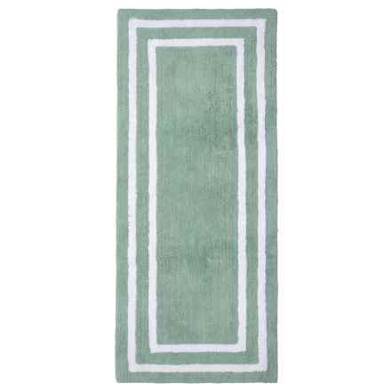 """Madison Home Double Sink Bath Rug -22x54"""" in Nile Blue/White - Closeouts"""