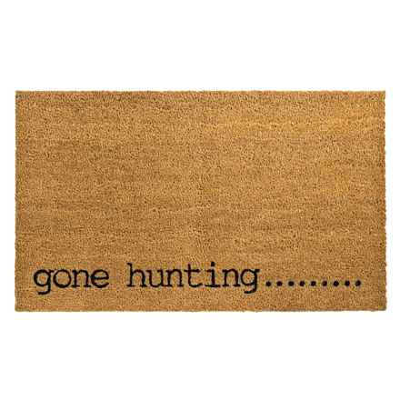 "Madison Home Gone Hunting Coir Doormat - 18x30"" in Gone Hunting - Overstock"