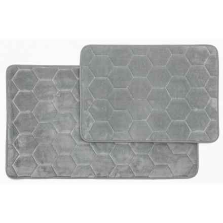 Madison Home Honey Memory Foam Bath Rugs Set Of 2 In Silver Closeouts