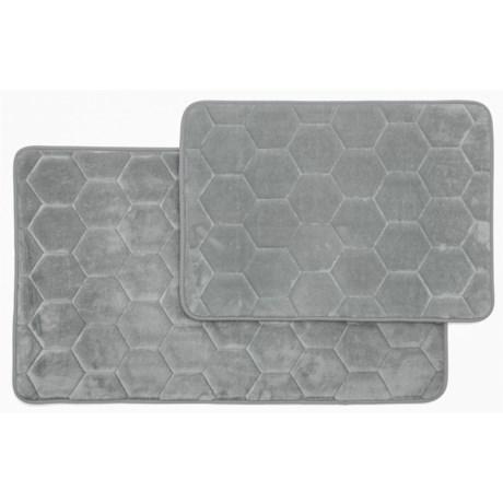 Madison Home Honey Memory-Foam Bath Rugs - Set of 2 in Silver
